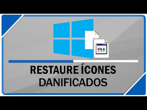 Como resolver erro de ícones danificados do Windows 7, 8.1 e 10!