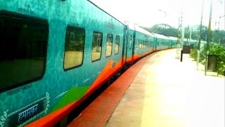 royal departure india s high tech semi luxury humsafar express departs bnc with bza wag 5a