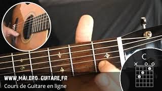 "Johnny Hallyday ""Marie"" Tuto Guitare - Partie 2"