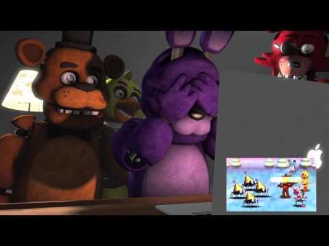 Freddy, Bonnie, Chica, Foxy Reacts To FNAF World Trailer