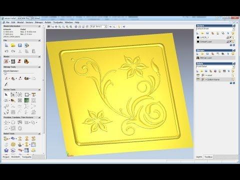 Create relief from vector in ArtCAM, vector doctor, ArtCAM tutorial