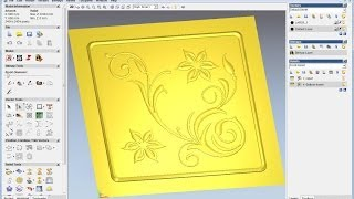 Create Relief From Vector In Artcam, Artcam Tutorial