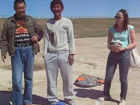 Karaoke on the lake. Best Mongolian Pop Song Гамнаaрай from  Avarga Toson beach