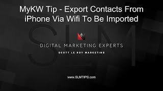 Tech Tip - How To Use Wifi Option In SA Contacts Lite To Export Contacts screenshot 1
