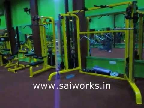 commercial gym equipment fitness equipment in india sai works youtube