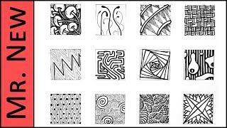 zentangle step patterns easy doodles tutorial