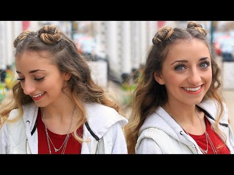 brooklyn's-double-bun-half-up-hairstyle-&-hair-hack-|-cute-girls-hairstyles-tutorial