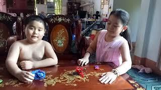 Mơ & Bin giới thiệu đồ chơi Chiến xa thần thú - Dũng mãnh sư tử - Bảo chiến phi long