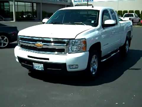sold 2010 chevrolet silverado 1500 extended cab ltz white seattle tacoma auburn wa v1849. Black Bedroom Furniture Sets. Home Design Ideas