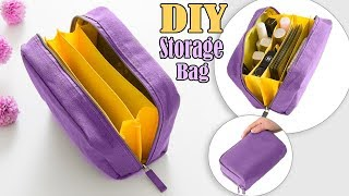 FANTASTIC DIY ZIPPER PURSE BAG // Cosmetics Travel Bag Tutorial in 20 Min