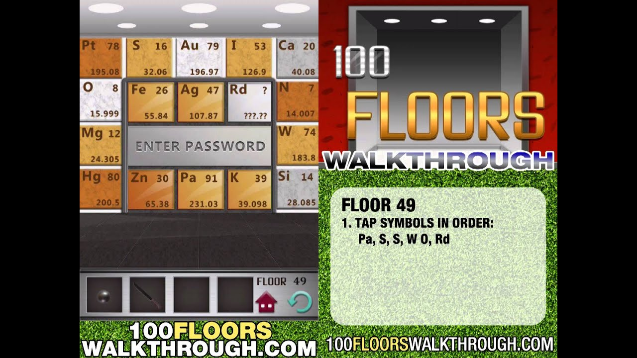 Floor 49 Walkthrough 100 Floors Walkthrough Floor 49 Answer Youtube