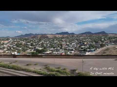 Border Wall Anapra Road Sunland Park New Mexico (DRONE) in ONE minute
