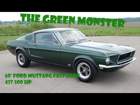 1968 FORD MUSTANG FASTBACK RESTORATION 427 FORD STROKER ENGINE