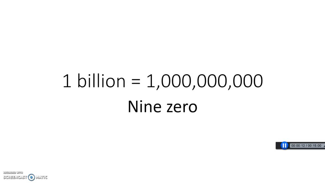 How Many Zeros Are In A Billion Dollars