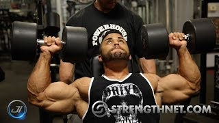 Shoulder workout with IFBB Pro Nick Medici| Bev