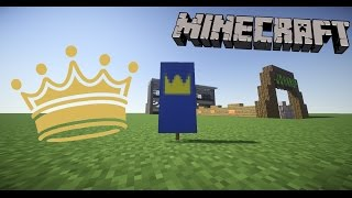 how to make a Crown Banner in Minecraft!