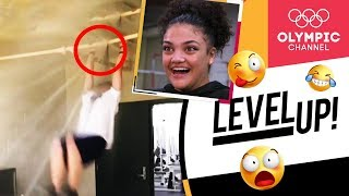 Laurie Hernandez reacts to incredible gymnastics videos | Level Up!