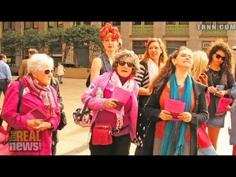 Activists Target Bank of America on International Women's Day