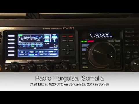 Radio Hargeisa, Somalia 7120 kHz, 1821 UTC