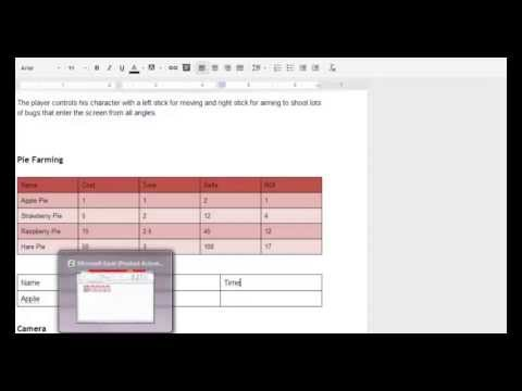 Using Google Docs For Your Game Design Document - Youtube