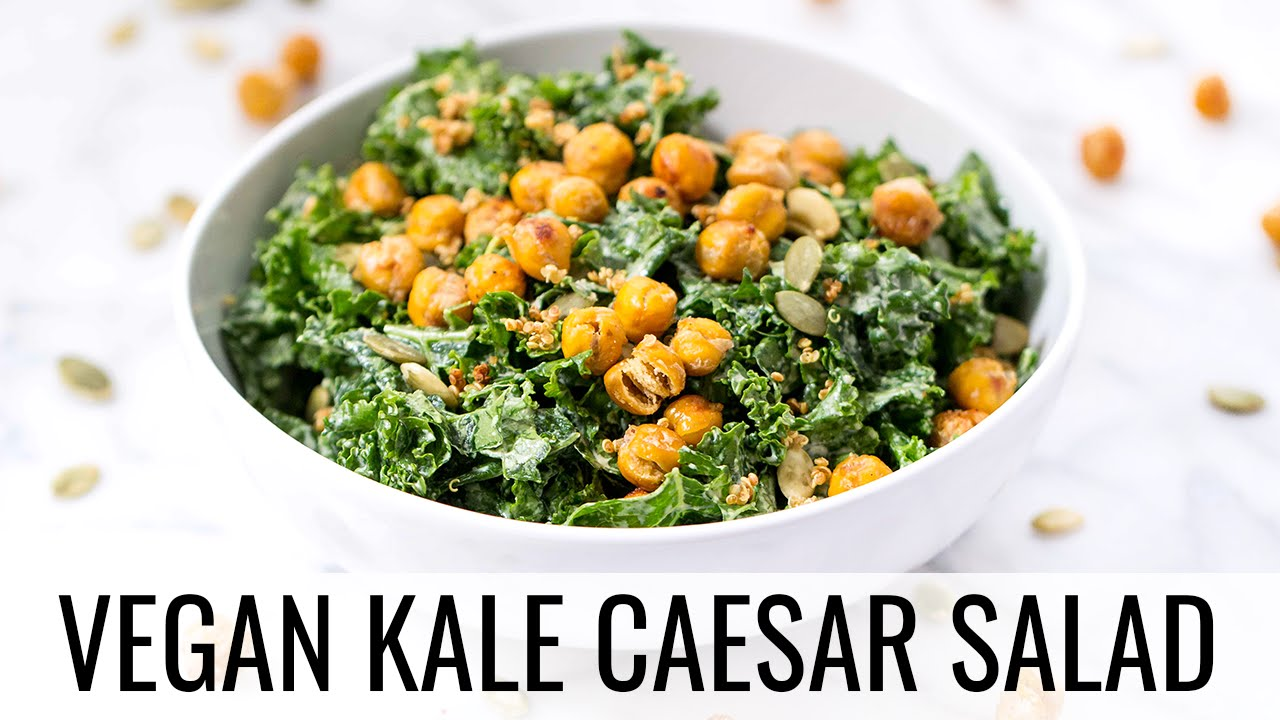Vegetarian Kale Caesar Salad Recipe — Dishmaps