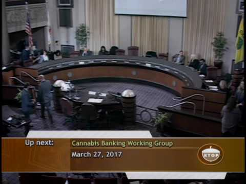 March 27, 2017 // Cannabis Banking Working Group Meeting