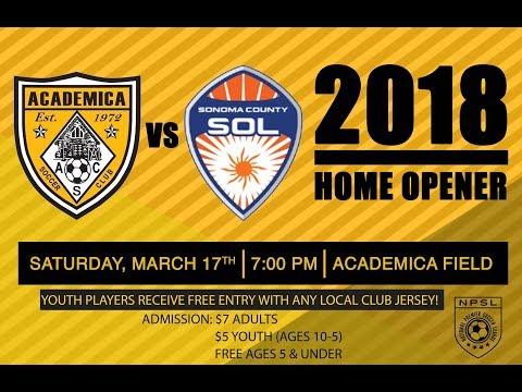 Academica SC 4 - Sonoma County Sol 2 - 03/17/18
