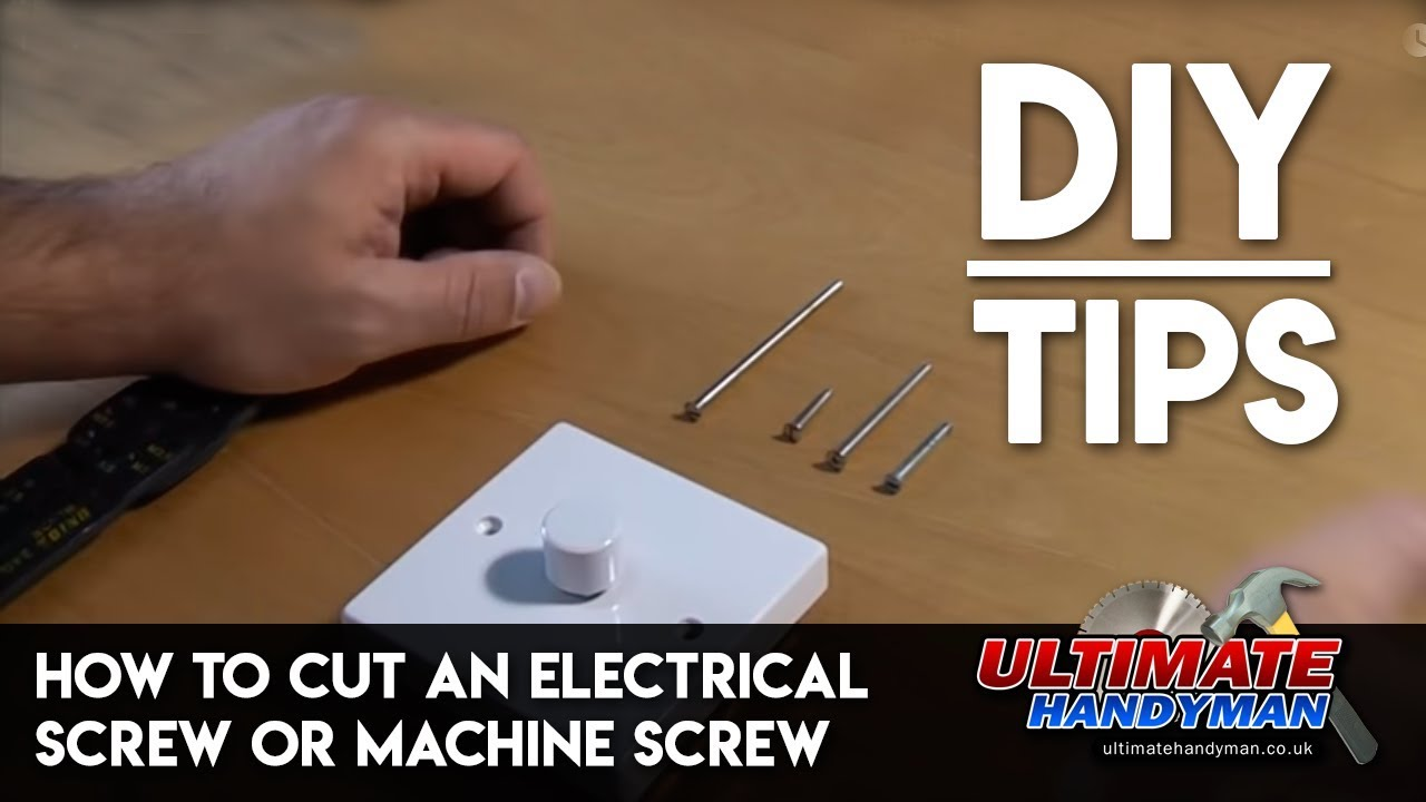 How To Cut An Electrical Screw Or Machine Ultimate Handyman Wiring Wall Cutting Diy Tips