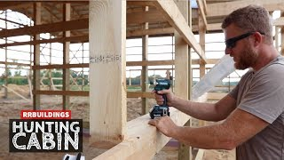 Building a Hunting Cabin 9: framing windows...and some fun!