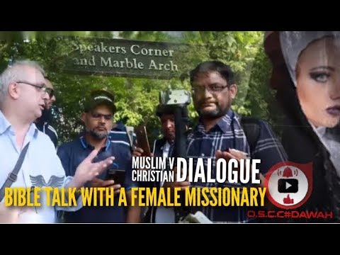 BRS HASHIM & PAUL TALK BIBLE WITH FEMALE MISSIONARY  SPEAKERS CORNER 