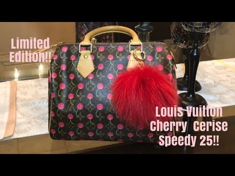 a57e4e1aecc1bf Louis Vuitton Vintage Cherry Cerise Speedy 25 - YouTube