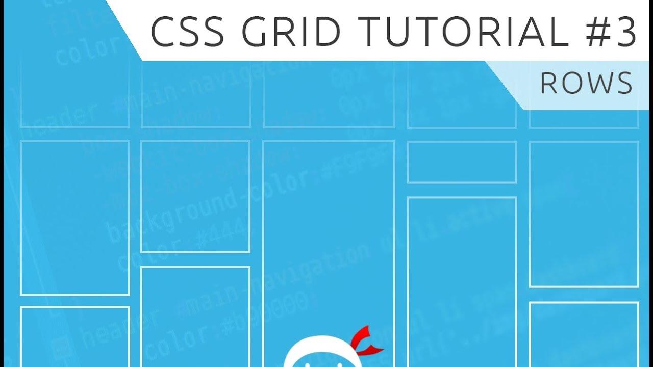 CSS Grid Tutorial #3 - Rows