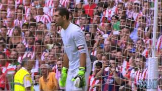 lionel messi misses penalty vs athletic bilbao   athletic bilbao vs fc barcelona 0 1   23 08 15