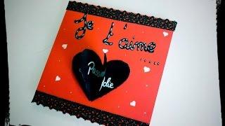 tuto saint valentin idée carte diy