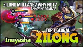 Perfect Enemy Lock, Zilong Mid Lane by Inuyasha Top 1 Global Zilong - Mobile Legends