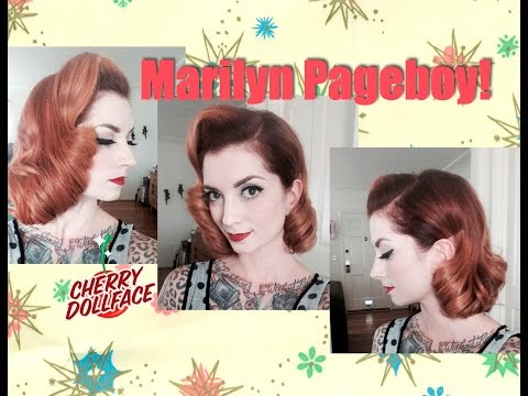 short-vintage-hair-tutorial:-marilyn-monroe-inspired-page-boy!-by-cherry-dollface