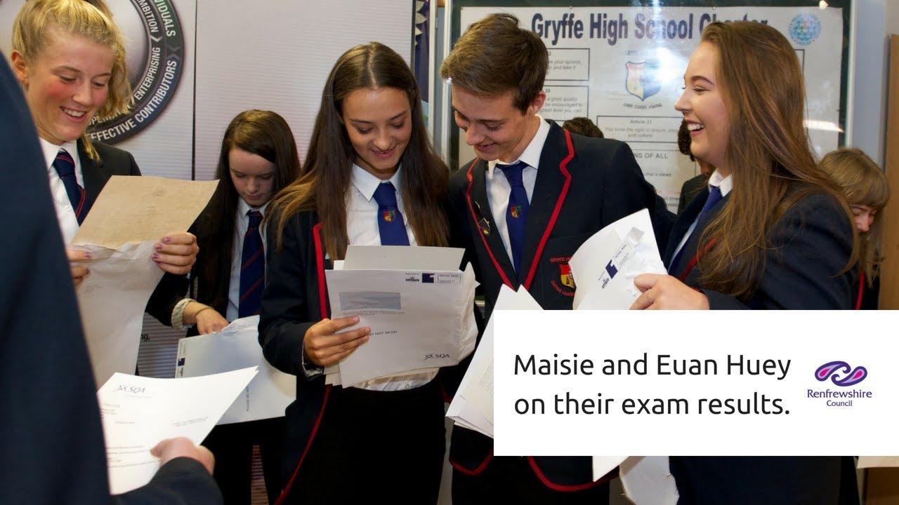 Gryffe High School pupils celebrate their exam results