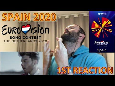 "🇪🇸🇪🇸 SPAIN Blas Cantó ""Universo"" | 1st REACTION | Eurovision 2020 🇪🇸🇪🇸"