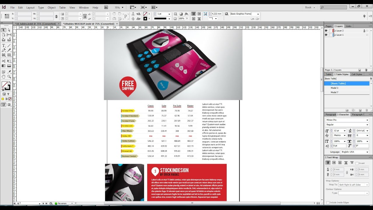 10 Amazing Table Styles for Adobe InDesign - YouTube