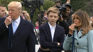 Barron Trump Helps Kick Off White House Easter Egg Roll thumbnail