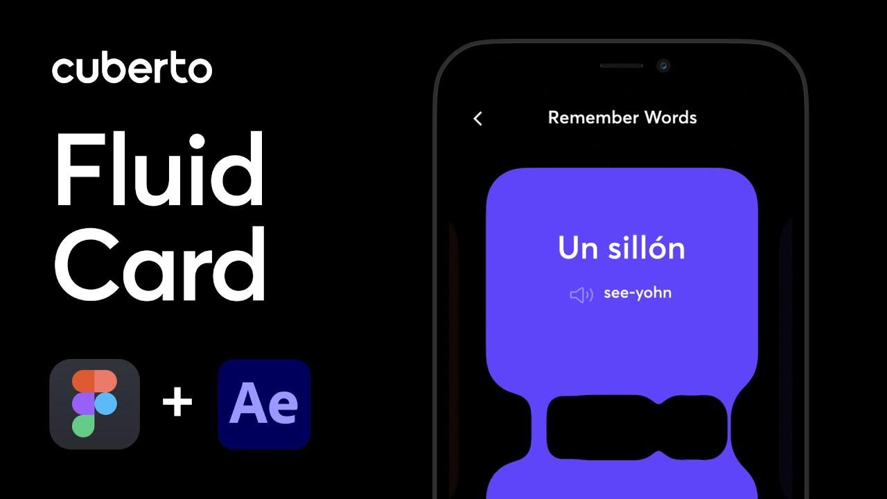 Fluid [ Liquid ] Card in UI / Design Tutorial