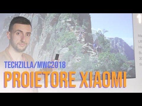 "Il SUPER PROIETTORE da 150"" di XIAOMI - MWC 2018"