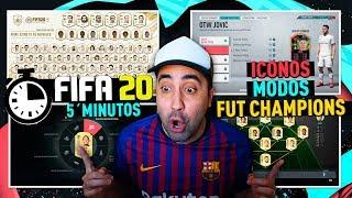 FIFA 20 | ICONOS, TEMPORADA y NOVEDADES en 5´ MINUTOS