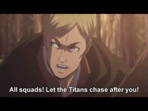 Shingeki no Kyojin s2 ep11 - Best Erwin moments