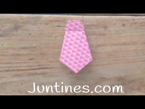 Tutorial para hacer una corbata de origami con niños