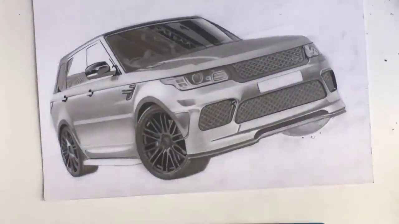It is an image of Crazy Range Rover Drawing