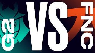 G2 vs. FNC - Semifinals | LEC Summer Split | G2 Esports vs. Fnatic | Game 4 (2021)