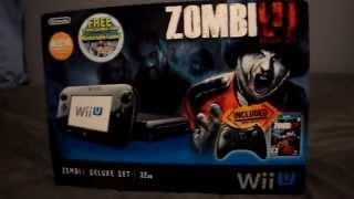 Nintendo Wii U ZombiU Deluxe Set Unboxing 5/30/13