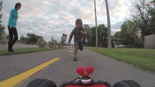 henry the fpv rc car playing with an adorable kid filmed with gopro