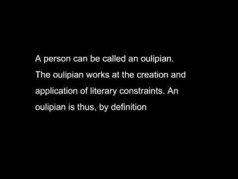 A documentary saga of the Oulipo - part 1